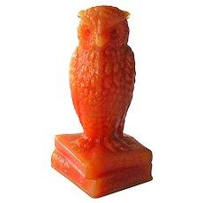 Degenhart Bloody Mary Owl / Owl Figurine / Glass Owl