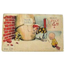 Fourth of July Gene Carr Postcard / Rotograph Co / Vintage Ephemera
