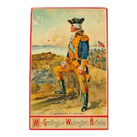 George Washington Postcard / My Greetings on  Washington's Birthday