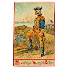 George Washington Postcard / My Greetings on  Washington's Birthday