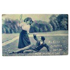 Romantic Postcard in Blue / Jealous Girlfriend
