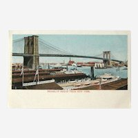 Brooklyn Bridge Postcard / New York View