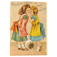 J&P Coats' Thread / Victorian Trade Card / Advertising Card / Ephemera