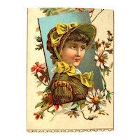 Victorian Scrap / Victorian Lovely Lady / Flower Accent