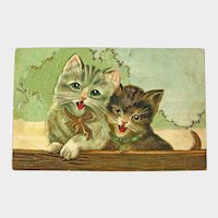 Vintage Postcard Two Adorable Kittens / Cat Postcard / Cats