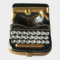 Limoges Typewriter Box / Rochard Limoges France / Vintage Box