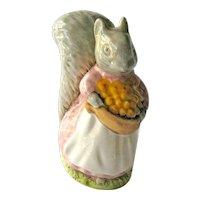 Beatrix Potter Goody Tiptoes / Squirrel Figurine / Beswick England / Beatrix Potter Collectible