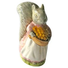 Beatrix Potter Goody Tiptoes / Squirrel Figurine / Beswick England / Beatrix Potter Collectible