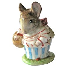 Beatrix Potter Mrs. Tittlemouse / Beswick Figurine / Beatrix Potter Stories
