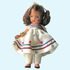 Nancy Ann Storybook Doll (NASB) / Little Miss Sweet Miss #110 / Bisque Nancy Ann Doll