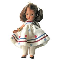 Nancy Ann Storybook Doll (NASB) / Little Miss Sweet Miss #110 / Bisque Nancy Ann Doll