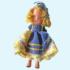 Nancy Ann Storybook Doll (NASB) / Goldilocks #128  / Bisque Nancy Ann Doll