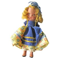 Nancy Ann Storybook Doll (NASB) / Goldilocks #128  / Bisque Nancy Ann Doll