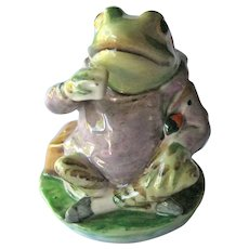 Beatrix Potter Figurine / Mr Jeremy Fisher / Beswick England / Frog Figurine / Peter Rabbit