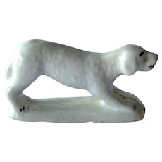 Porcelain Dog Whistle / Antique Dog Whistle / Dog Figurine