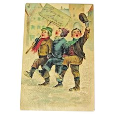 New Year Postcard / French Greeting / Bonn Annee / Vintage Ephemera