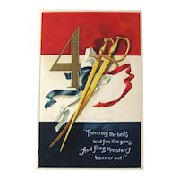 Fourth of July Postcard / Ellen Clapsaddle Art / Artist Signed Postcard / Vintage Ephemera