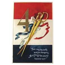 Fourth of July Postcard / Ellen Clapsaddle Art / Artist Signed Postcard / Vintage Ephemera