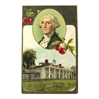 George Washington Postcard / Father of His Country / Mount Vernon / Patriotic Postcard / Vintage Ephemera