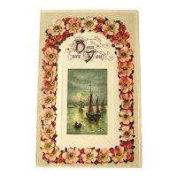 Unused Winsch Postcard / Sailboat Scene / How Are You Postcard / Vintage Ephemera
