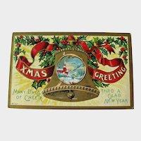 Merry Christmas and Happy New Year Postcard / Winsch Postcard / Church Scene / Vintage Ephemera