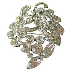 Vintage Weiss Rhinestone Pin / Rhinestone Pin Icing / Designer Costume Jewelry / Collectible Costume Jewellery