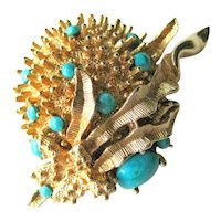 Emmons Sea Urchin Pin - Designer Pin - Signed Brooch - Collectible Jewellery - Vintage Costume Jewelry