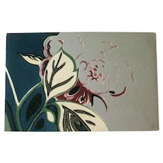 Japanese Art Postcard - Floral Design - Collectible Postcard - Postcard Collector