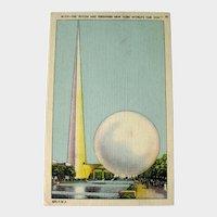 Trylon and Perisphere - New York World's Fair 1939 - Collectible Postcard - Vintage Card