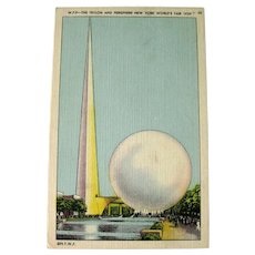 Trylon and Perisphere - New York World's Fair 1939 - Collectible Postcard - Vintage Card
