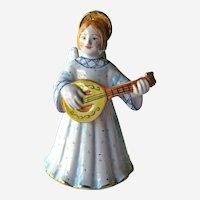 Russian Angel Bell - Angel Playing Mandolin - Holiday Decor - Christmas Angel