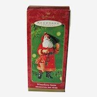 Winterberry Santa Hallmark Ornament - Dated 2000 Ornament - Collectible Santa - Holiday Decor
