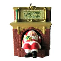 Welcome Santa Hallmark Ornament - Santa in Chimney - Mechanical Ornament