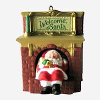 Welcome Santa Hallmark Ornament - Santa in Chimney - Mechanical Ornament