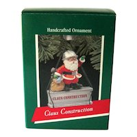 Claus Construction Hallmark Ornament - Handcrafted Ornament - Santa Ornament