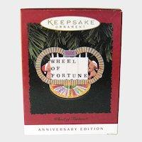 Wheel of Fortune Hallmark Ornament - Anniversary Edition - Handcrafted Ornament