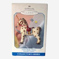 Mobo Horse Hallmark Ornament - 1939 Mobo Horse - Sidewalk Cruisers - Collector's Series