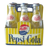 Doll Size Miniature Case of Pepsi - Six Pepsi Bottles - Carton of Pepsi Bottles - Collectible Pepsi