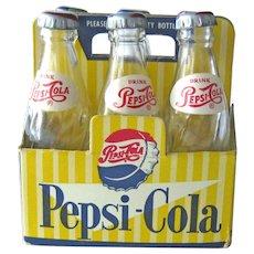 Doll Size Miniature Case of Pepsi - Six Pepsi Bottles - Carton of Pepsi Bottles - Collectible Pepsi