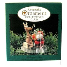 Fishing For Fun Hallmark Ornament - Collector's Club Ornament - 1995 Hallmark - Collectible Ornament