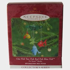 Dr. Seuss One Fish Two Fish - Red Fish Blue Fish - Hallmark Ornament Mobile - Collector's Series