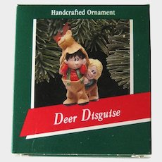 Deer Disguise Hallmark Ornament - Handcrafted Ornament - Children in Costume - Holiday Collectible