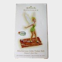 Hallmark Mischievous Little Tinker Bell Ornament - Disney Peter Pan - Collectible Ornament