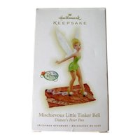 Hallmark Mischievous Little Tinker Bell Ornament - Disney Peter Pan - Collectible Ornament