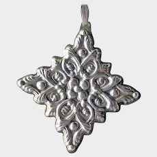 Reed & Barton Sterling Christmas Ornament Dated 1989 - Sterling Silver Ornament