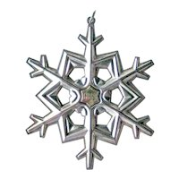 Gorham Sterling Christmas Ornament Dated 1989 - Sterling Silver Snowflake Ornament