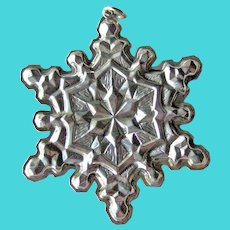 Gorham Sterling Snowflake Ornament Dated 1971 - Sterling Silver Ornament - Vintage Ornament
