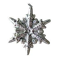 Gorham Sterling Snow Flake Ornament Dated 1972 - Sterling Silver Ornament