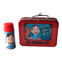 Vintage Hallmark Howdy Doody Lunch Box Set Ornament - Howdy Lunch Box and Thermos