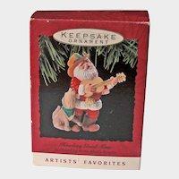 Vintage Hallmark Howling Good Time Ornament - Santa Ornament - Artists' Favorite